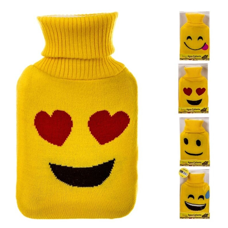 Bolsa agua caliente de 1 litros con funda emoticono - Bolsa de agua caliente ...