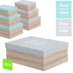 "Juego 3 cajas regalo diseño frase ""HOME SWEET HOME"""