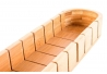 Tabla cortar pan bambú natural 50 x 10 x 5 cm .