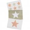 Juego de 3 alfombras multiuso diseño estrellas coral 40x60 cm .