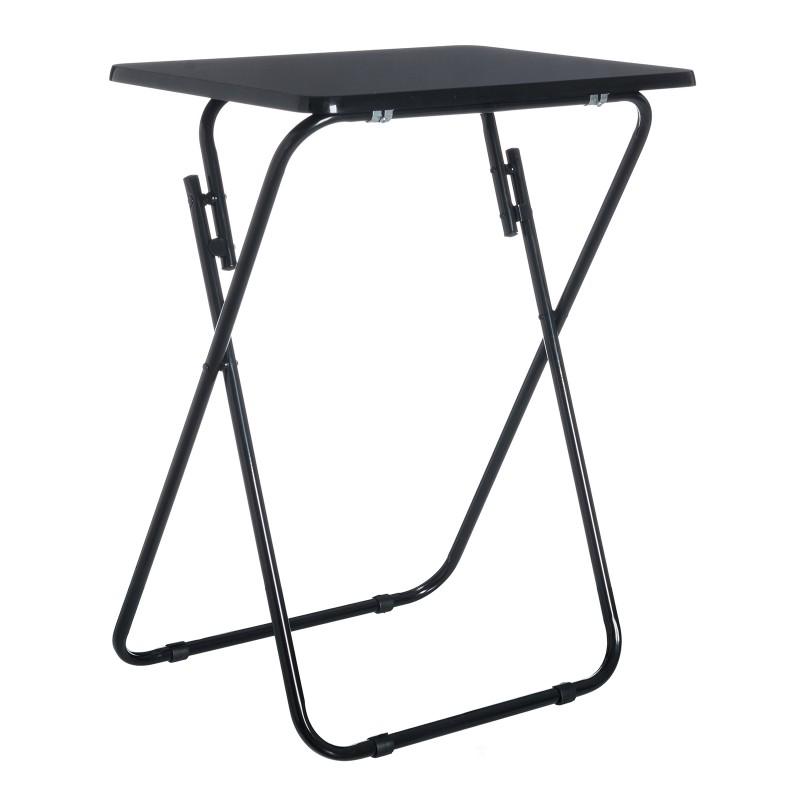 Mesa plegable cl sico negra de madera para terraza basic for Mesas plegables para terraza