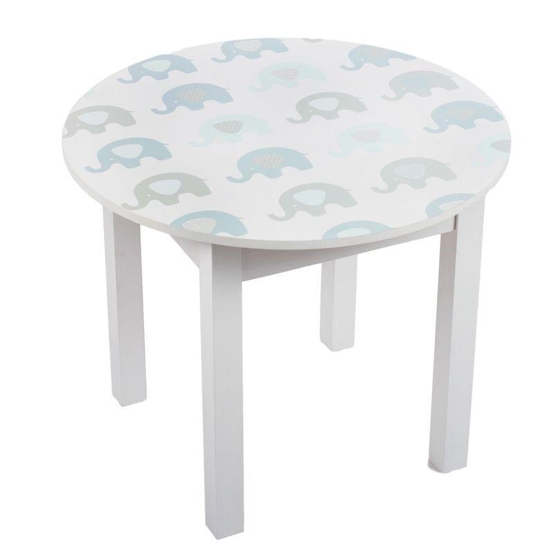 Mesa de madera infantil elefantes azules - Mesas infantiles madera ...