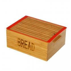 Caja para pan con bandeja bambú 38 x 29 x 16 cm .