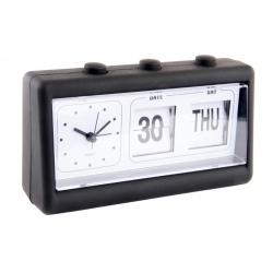 Reloj despertador goma color negro 19x6x11 cm .
