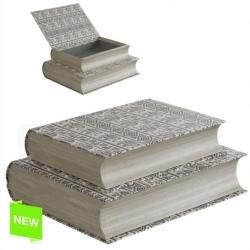Juego 2 cajas libro diseño original ETNIC .