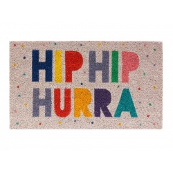 """Felpudo """"Hip Hip Hurra"""" Multicolor 40*70CM"""