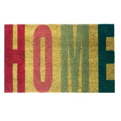 Felpudo diseño Home, multicolor con fondo gris 40x70 cm .