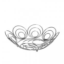 Frutero hierro cromado 31,50 x 31,50 x 8 cm .