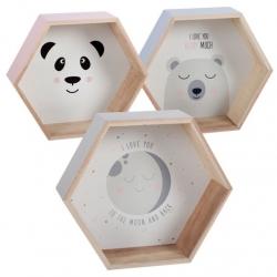 Juego 3 estante de madera diseño Infantil .