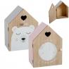 Juego de 2 casitas madera diseño Infantil Luna y Oso !