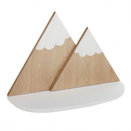Estante de madera montañas para habitacion infantil .