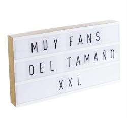 Lightbox Caja de luz XXL con 75 letras .
