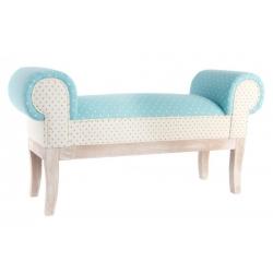 Mueble descalzador madera tela 100 x 30 x 54 cm .