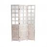 Biombo plegable de madera cristal 120x180 color natural .
