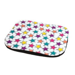 "Bandeja para cama o sofá con cojín ""Estrellas"" pvc / mdf 47 x 37 x 6 cm ."