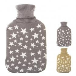 Bolsa agua caliente de 2 litros con funda estrellas .
