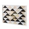Tablón con pinzas portafotos multiple de madera pino .