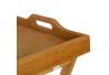 Bandeja plegable con patas bambú natural 35 x 55 x 61,50 cm .