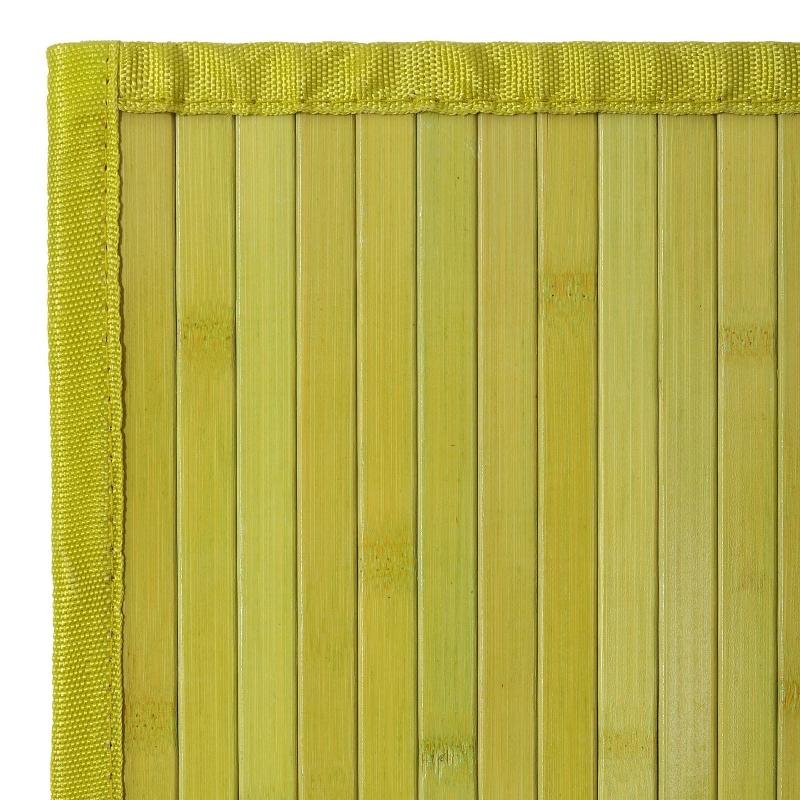 Alfombra pasillera oriental verde de bamb de 60x90 cm for Alfombra verde para jardin