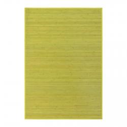 Alfombra de salón o comedor oriental verde de bambú de 140 x 200 cm Sol Naciente