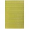 Alfombra de salón o comedor oriental verde de bambú de 200 x 300 cm Sol Naciente