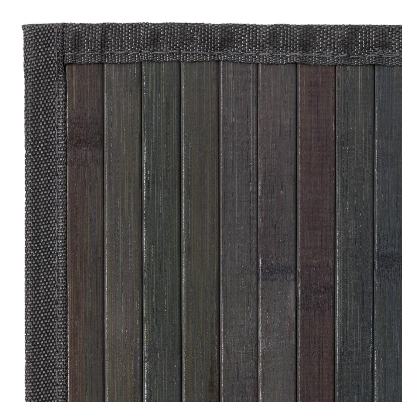 Alfombra pasillera industrial gris de bamb de 60 x 90 cm - Alfombra de bambu ...
