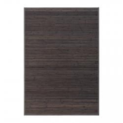 Alfombra de salón o comedor industrial gris de bambú de 140 x 200 cm Factory