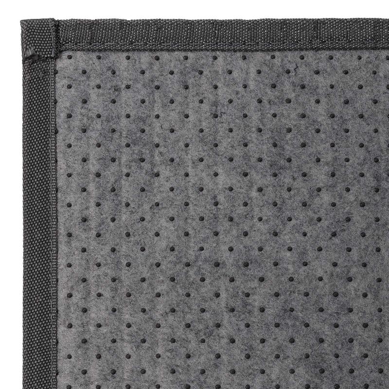 alfombra de saln o comedor industrial gris de bamb de 140 x 200 cm factory - Alfombra Gris