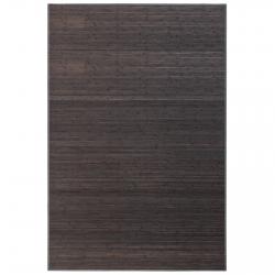 Alfombra de salón o comedor industrial gris de bambú de 200 x 300 cm Factory