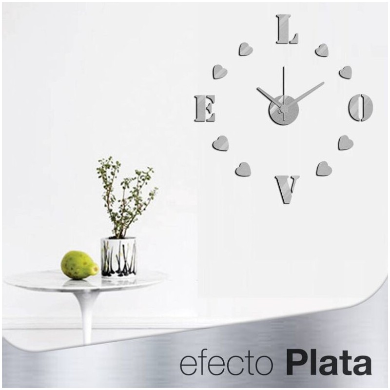 Reloj de pared 3d adhesivos diy moderno decoraci n adorno - Adhesivos neveras decoracion ...