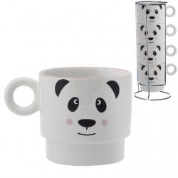 Juego 4 tazas infantil oso panda apilables .