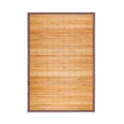 Alfombra pasillera oriental de bambú natural 60 x 90 cm .