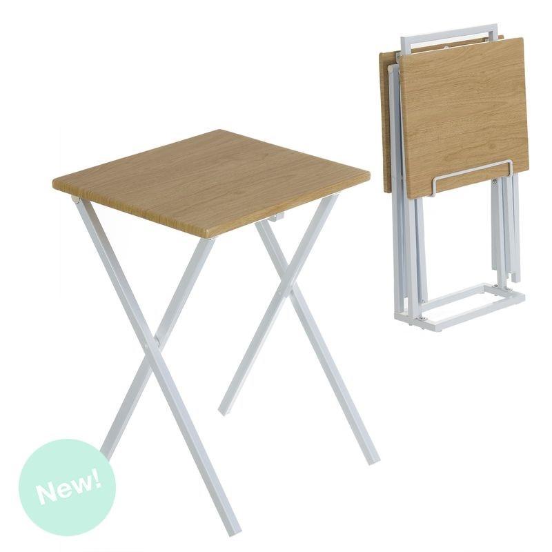 Mesitas plegables estilo nordicas con soporte for Mesa de centro plegable