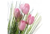 Pack 3 Plantas tulipan artificial poliester .