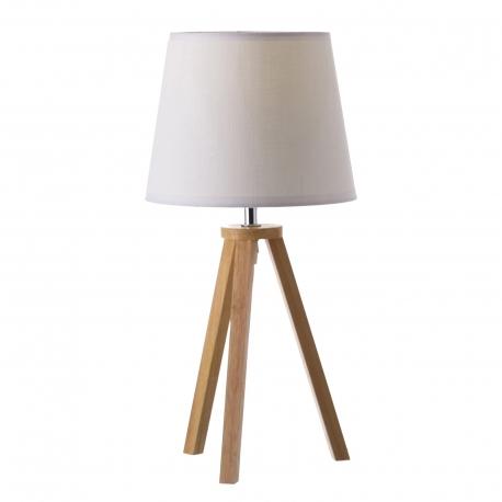 Lámpara de sobremesa nórdica blanca de madera para decoración Vitta .