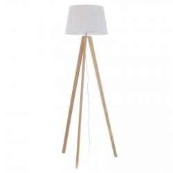 Lámpara de pie nórdica blanco madera para salón .