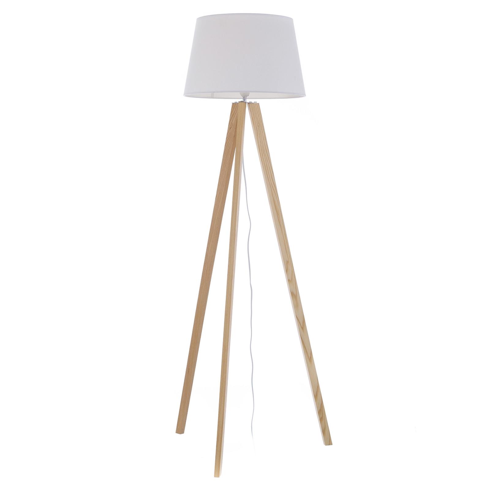 Lamparas de pie salon simple lampara de pie erideus - Lamparas de pie madera ...