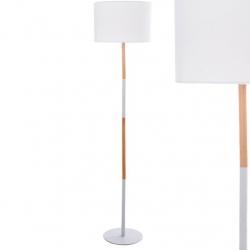 Lámpara de pie nórdica blanco madera para salón vitta .