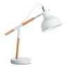Lámpara escritorio nórdica blanca de madera original .