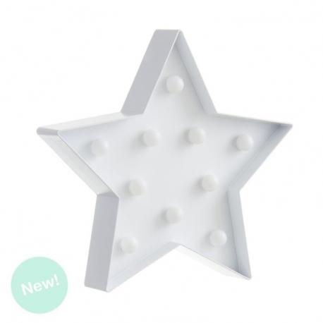 Estrella 10 leds blanca decorativa .