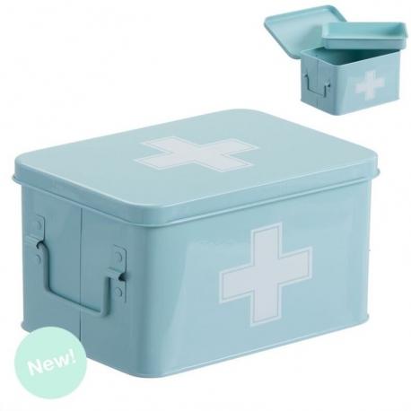 Botiquin metal auxilios con compartimento en interior .