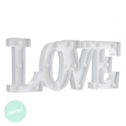 Letras love de leds blanca romantica decorativa .