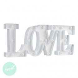 Letras love de leds blanca romantica decorativa .
