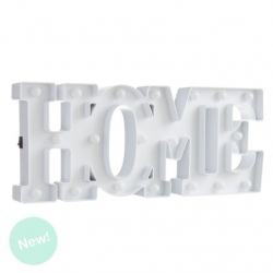 Letras home de leds blanca decorativa .