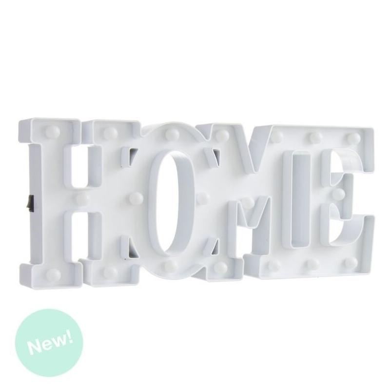 Letras home de leds blanca decorativa - Letras home decoracion ...