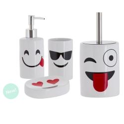 Set de baño emoticono de cerámica para cuarto de baño .