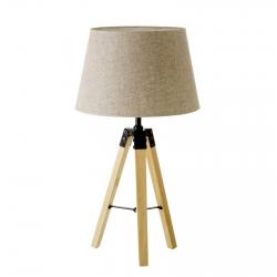 Lámpara de mesa nórdica beige de madera para salón Factory