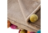 Manta para pie de cama infantil beige de poliéster para dormitorio Child