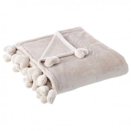 Manta para pie de cama romántica blanca de poliéster para dormitorio Child