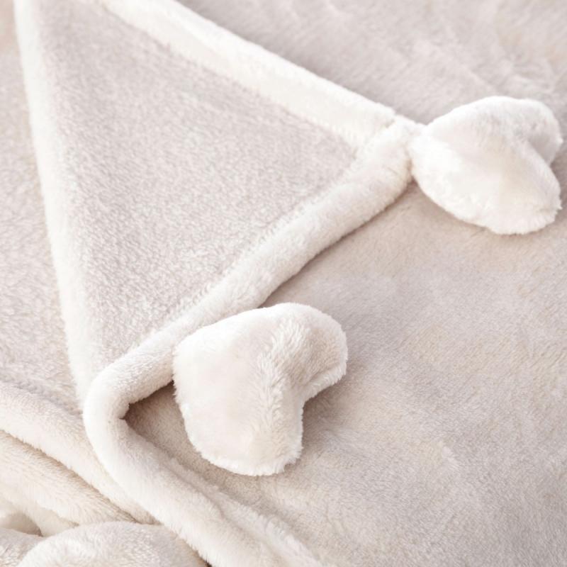 Manta para pie de cama rom ntica blanca - Mantas pie de cama ...